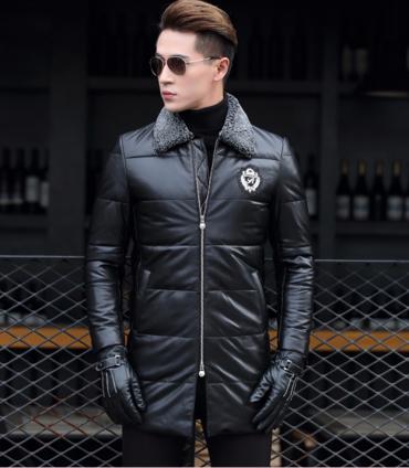 ab205566b3102 Мужская зимняя кожаная куртка, модель 1047 купить в Днепр