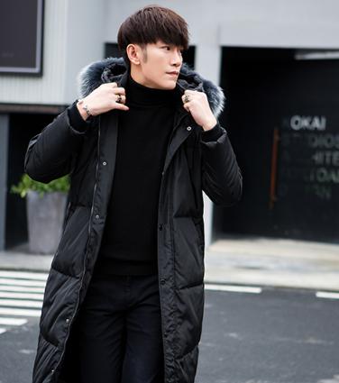Купить Мужская удлиненная зимняя куртка, модель 6141