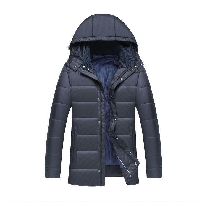 Купить Зимняя мужская куртка с капюшоном, модель 6323