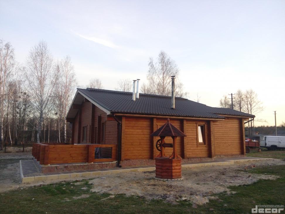 Деревянный дом из клееного бруса