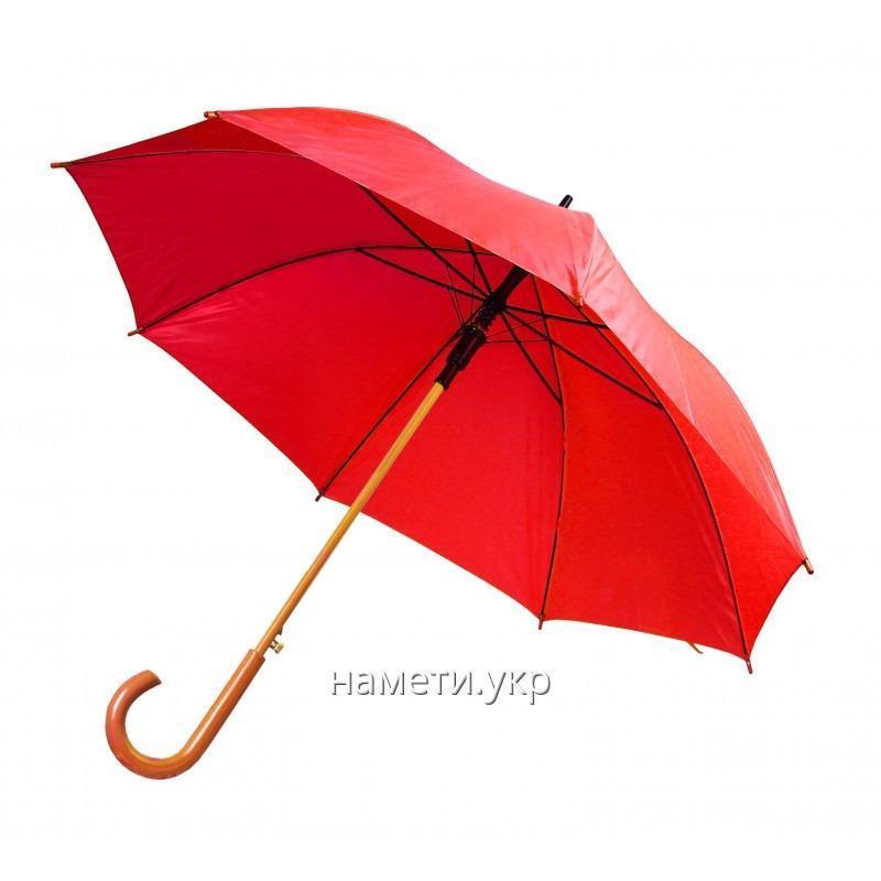 Зонт трость полуавтомат красный