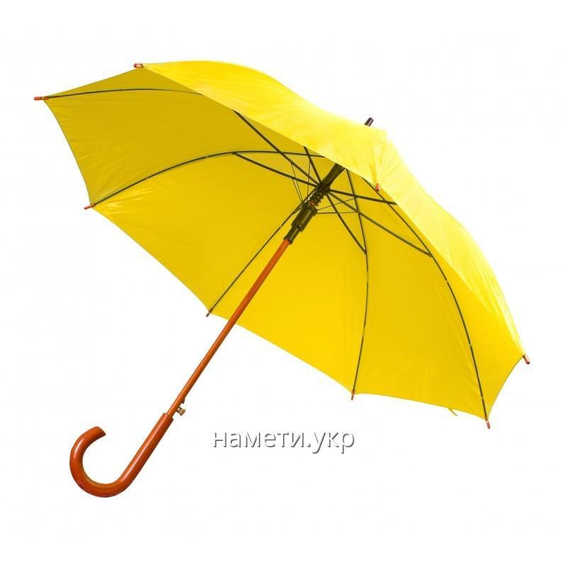 Umbrella cane semiautomatic device yellow