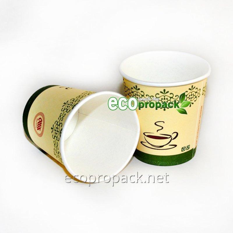 Купить Бумажный стакан 175мл зеленый