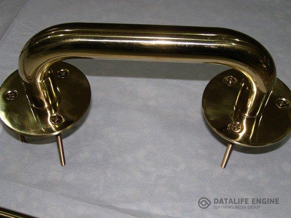 Ручки дверные позолоченные (стойкое покрытие нитридом титана)