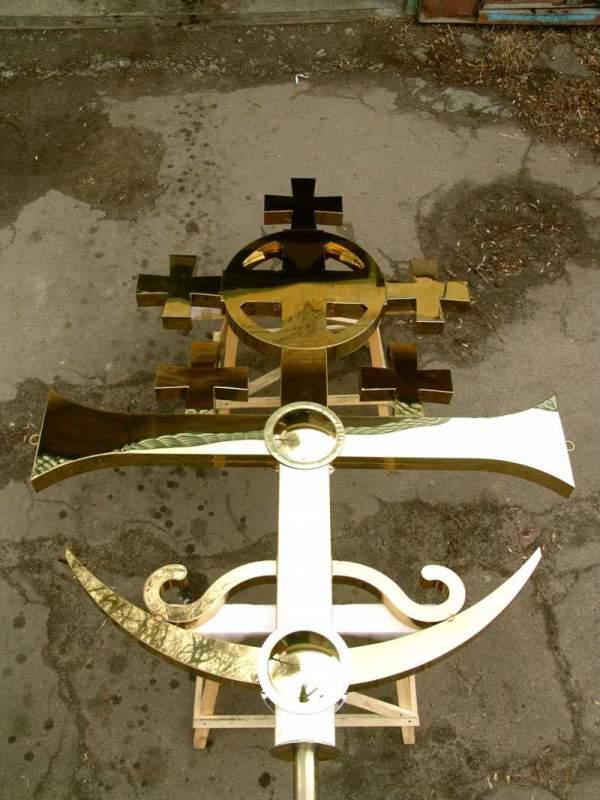 Kościół prawosławny krzyż pokryte azotkiem tytanu