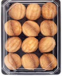 "The ""Nutlets with Condensed Milk"" cookies from two halves of shortcake, in the form of nutlets, are filled with a dairy stuffing ""Toffee"". Weight, kg: 0,525, 2,0, 4,0. GOST."