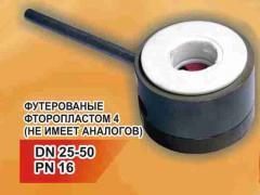 Кран дисковый нержавеющий с керамическим и металлокерамическим затвором DN 25-50 PN 16