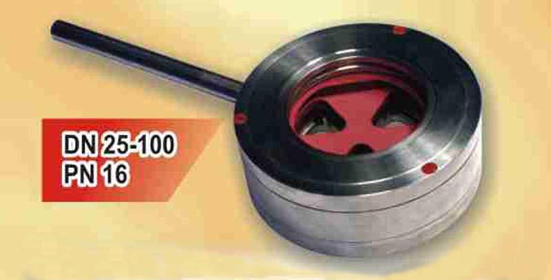 Кран дисковый нержавеющий с керамическим и металлокерамическим затвором DN 25-100 PN 16