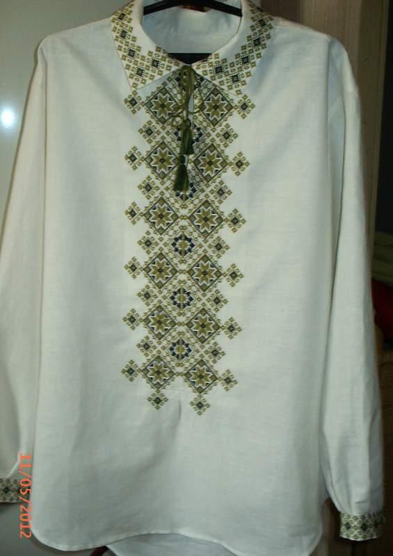 Вышиванка мужская рубашки льняные
