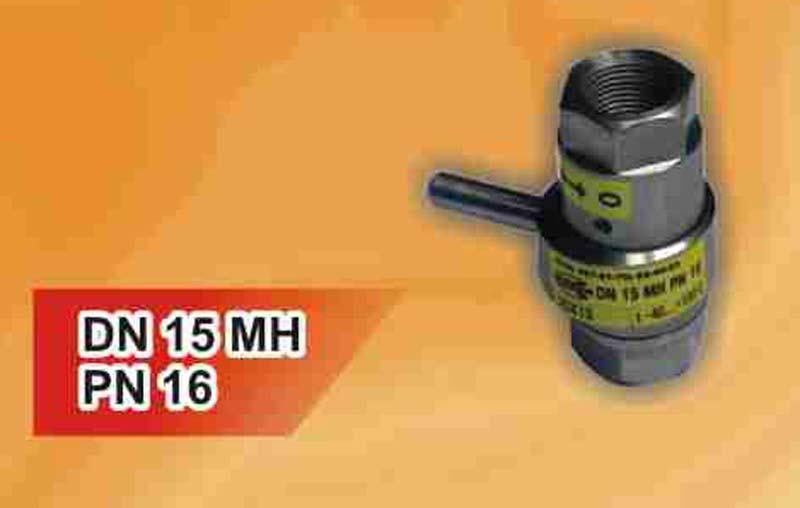 Кран дисковый нержавеющий с керамическим и металлокерамическим затвором DN 15 MH PN 16