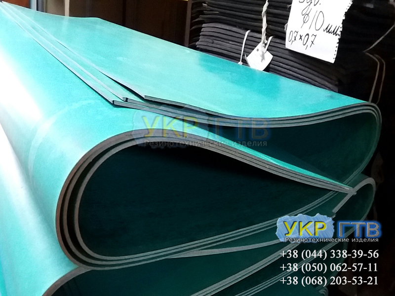 Паронит зеленый ПМБ  0,8мм - 4 мм