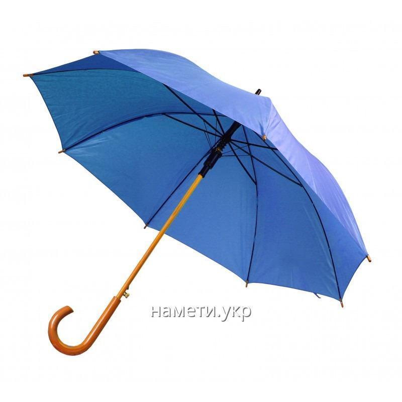 Зонт трость полуавтомат синий