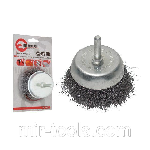 Brush of cup 100 mm for a drill, 1/4 (a twisted wire) INTERTOOL BT ...