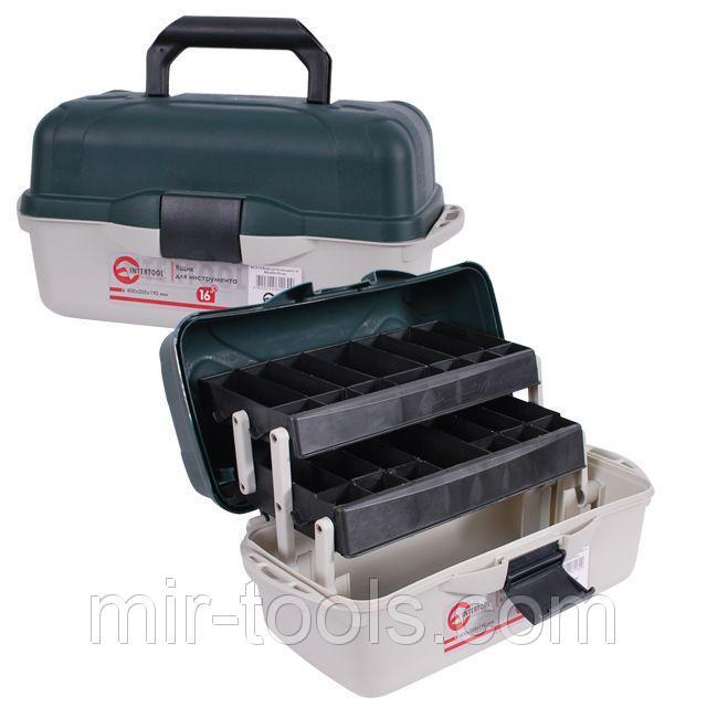 Ящик для инструментов, 16 400x205x190 мм INTERTOOL BX-6116 Intertool