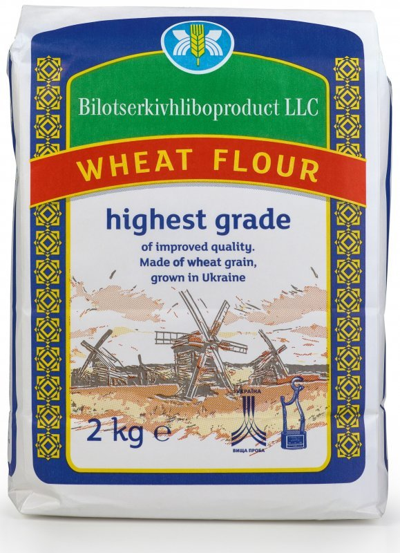 Wheat flour 1 grade FCA for export USD 205/t