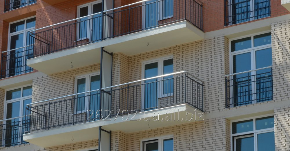 Sections of a protection of balconies, ladders