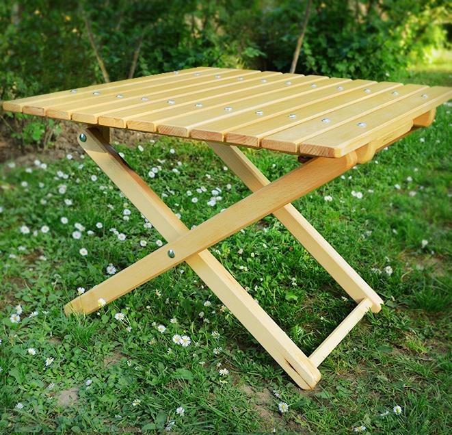 Столик садовый деревянный раскладной