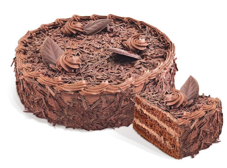 Торт «Трюфельный» бисквитный, пропитан сиропом. Вес: 550 г.; 1100 г.