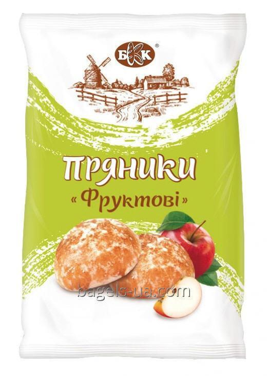 """Buy Spice-cake Gingerbread """"Fruit"""" in icing sugar with apple jam. Weight - 4.56 kg, 4 months storage time.. GOST"""