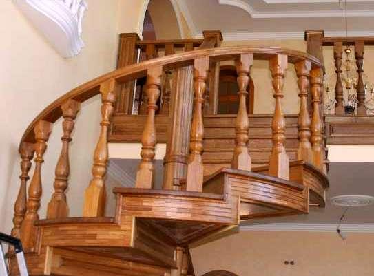 Купить Лестница винтовая из дерева