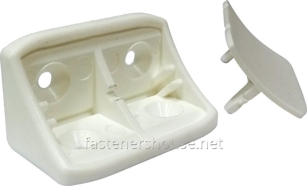 Купить Уголок пласт. з двома отворами 43х24мм, белый, PE