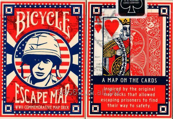 Купить Карты игральные Bicycle Escape Map