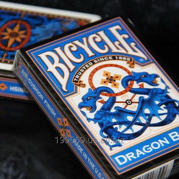 Купить Игральные карты Bicycle Blue DRAGON BACK