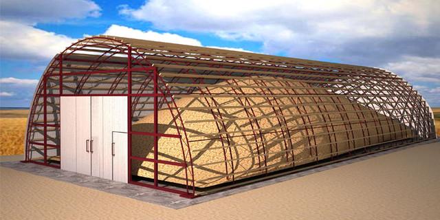 Строительство ангаров, зернохранилищ, ферм 15х80 м