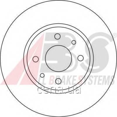 Тормозной диск передний Fiat Doblo (Фиат Добло) 1.6 Бензин/природный газ (CNG) 2002 -  (16422)
