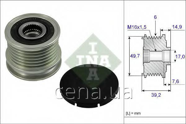 Шкив генератораМерседес Спринтер 416 Дизель 2000 - 2006 (535001510)