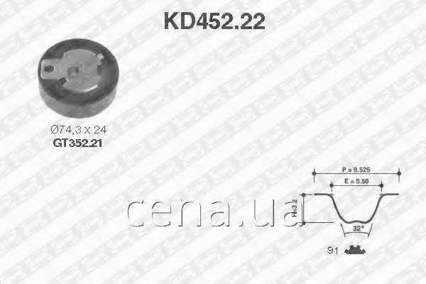 Комплект ГРМ  FORD S-MAX 1.8 Дизель 2006 -  (kd45222)