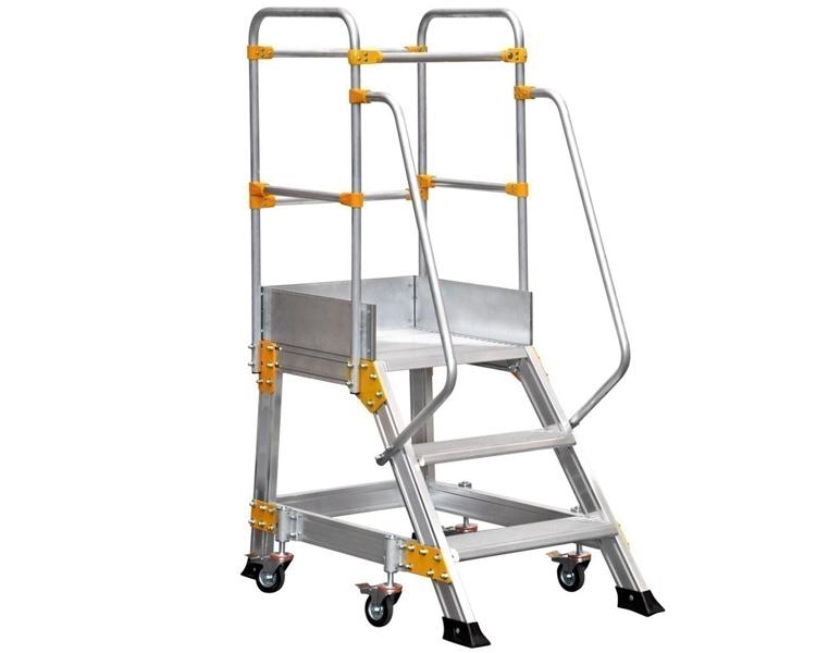 Купить Алюминиевая лестница с платформой VIRASTAR 2+1 ступеней