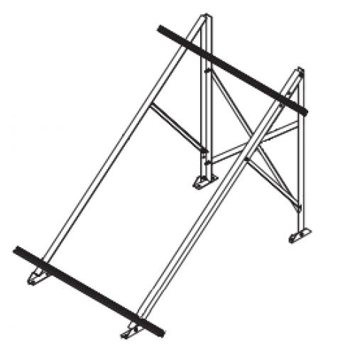 Комплект крепежа для монтажа на горизонтальную крышу одного коллектора Protherm 0020174048
