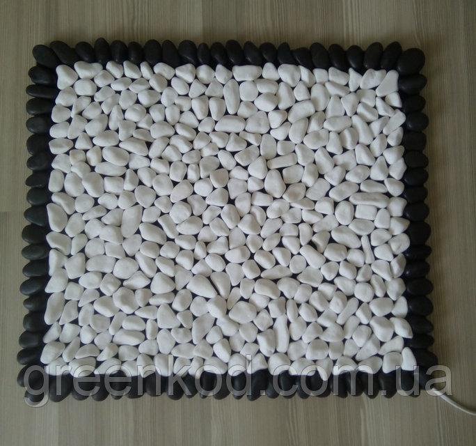 Массажный коврик из натурального камня (гальки) с подогревом, 50*60