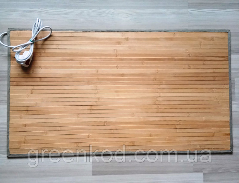 Коврик с подогревом из натурального бамбука 50*90