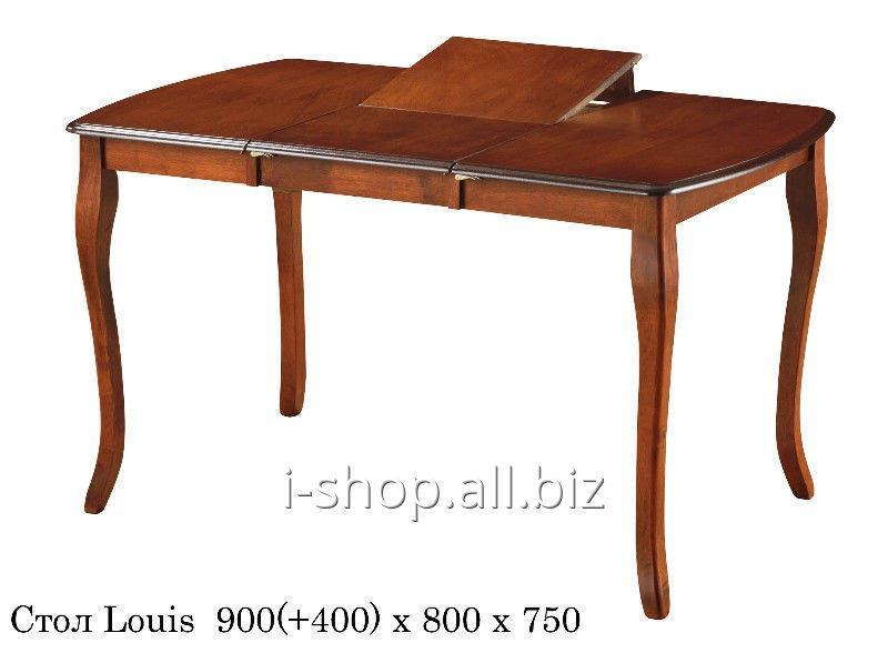 Buy Obedenenny set: Folding table of Louis (Luís) + 2 Chairs of 1010 nut bezh