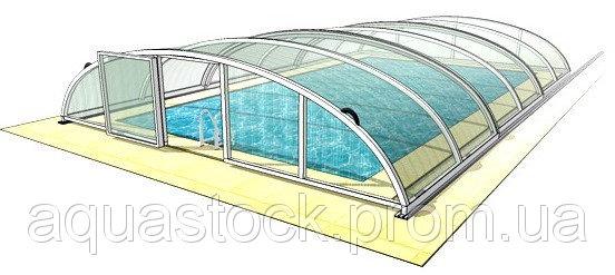 Раздвижной павильон. Модель Abris для бассейна 6,4 х 3,57 м