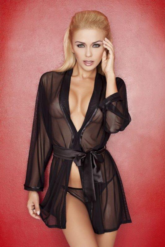 Прозрачный халат женский