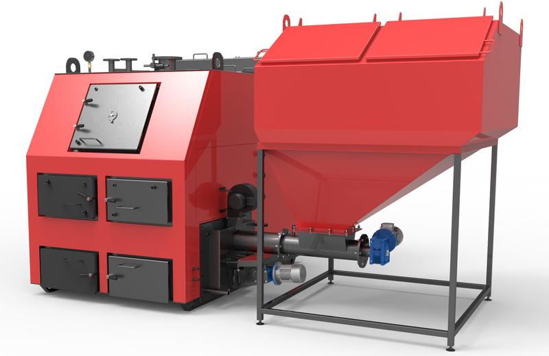 Пеллетный котел Ретра 1000 кВт с автоподжигом и золоудалением