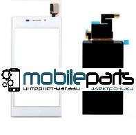 Купить Оригинальный Сенсор Тачскрин для Sony D2302 | D2303 | D2305 | D2306 | Xperia M2 Белый
