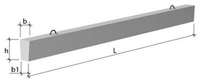 Балка фундаментная прямоугольного сечения