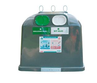 Купить Евроконтейнер для мусора ( стекла) MAXI DUO 4 M3