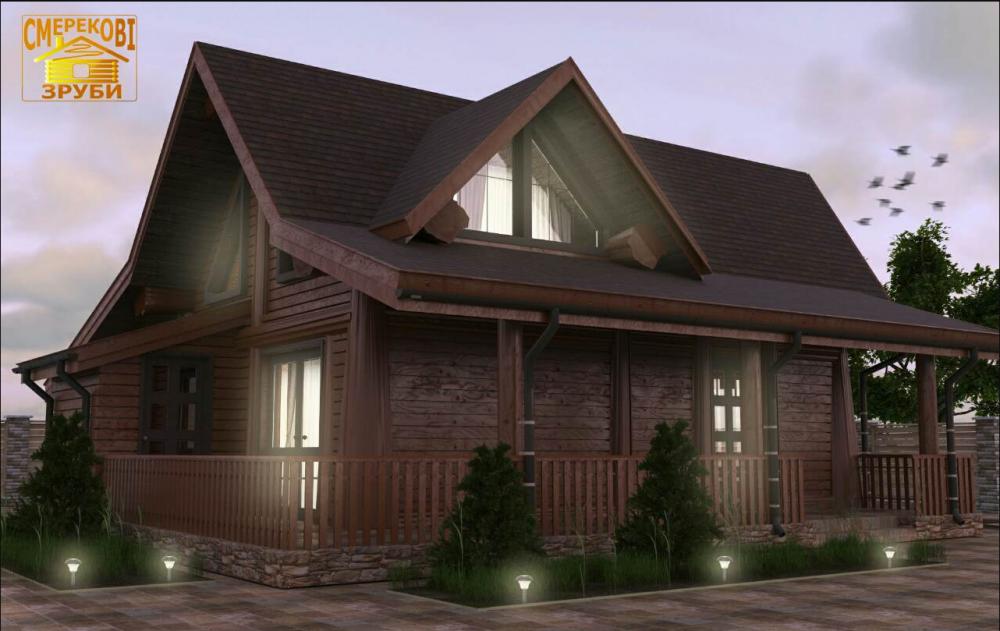 Деревянный домик по новой австрийской технологии с несколькими вариантами установки