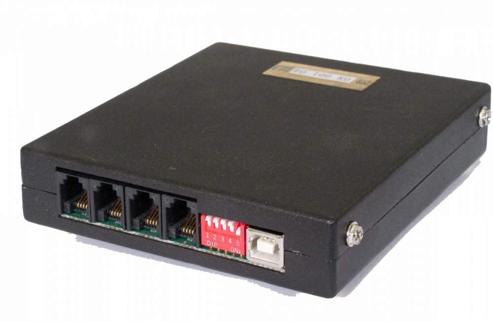 The DTR-08-USB device (4 channels) for Alarm DTR and CallCenter DTR