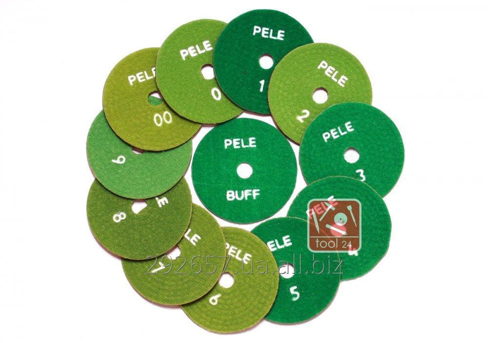 Buy Diamond flypapers, polishing circles, turtles for polishing of a stone of PELE