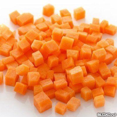Морковь кубик замороженная