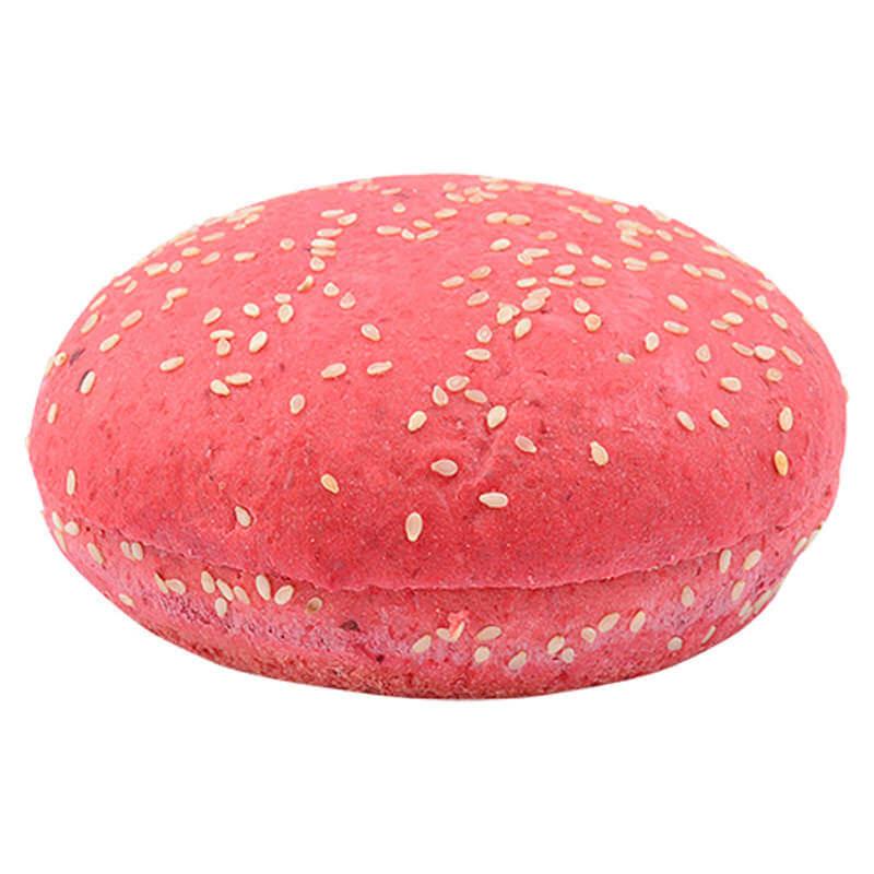 Булочка для гамбургера свекольная с кунжутом 80г 27шт.