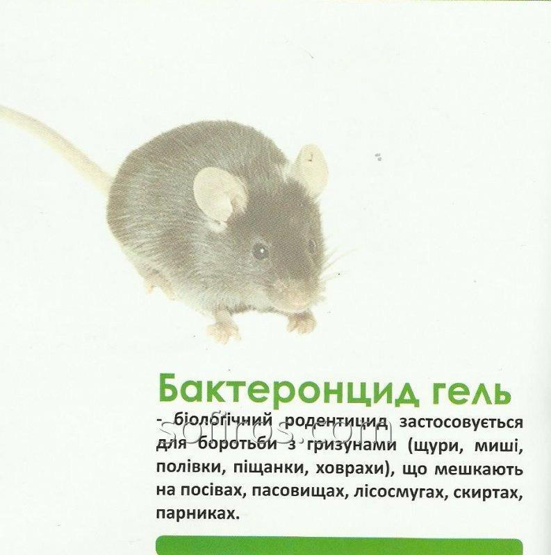 Бактеронцид гель родентицид, бактеріальний препарат