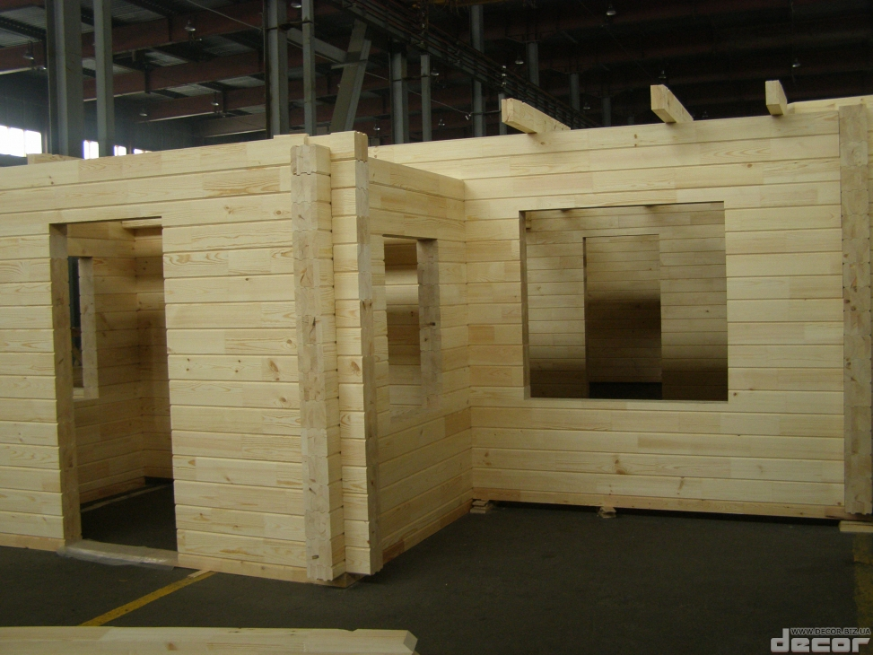 Комплект деревянного дома из клееного бруса