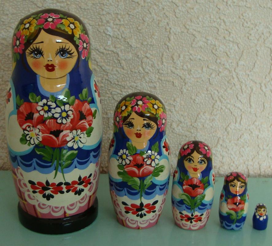 Украинская расписная матрёшка из 5-ти штук большая 501